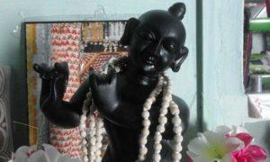 Black Krishna Marble Deity