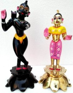 Radha Krishna 15 Inches Metal Deities